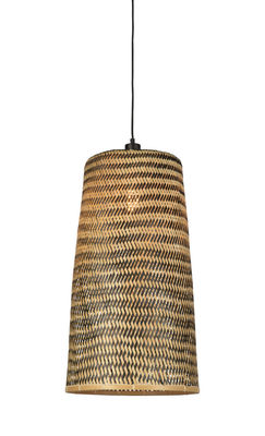 Lighting - Pendant Lighting - Kalimantan Large Pendant - / Bamboo - H 66 cm by GOOD&MOJO - Large / Black & natural - Bamboo