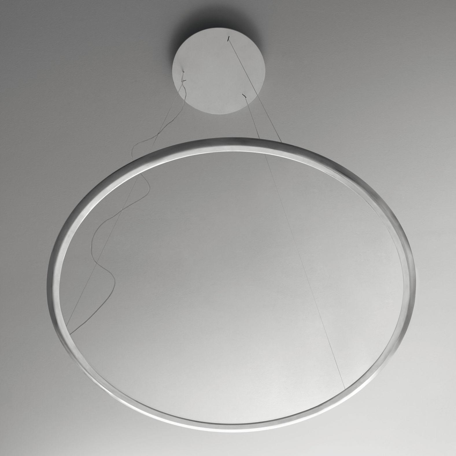 Leuchten - Pendelleuchten - Discovery LED Pendelleuchte / Ø 70 cm - Artemide - Scheibe transparent / Rahmen Aluminium - Aluminium, PMMA