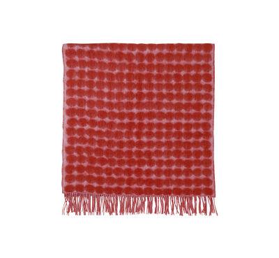 Dekoration - Wohntextilien - Räsymatto Plaid / 70 x 180 cm - Marimekko - Räsymatto / rosa & rot - Mohair, Wolle