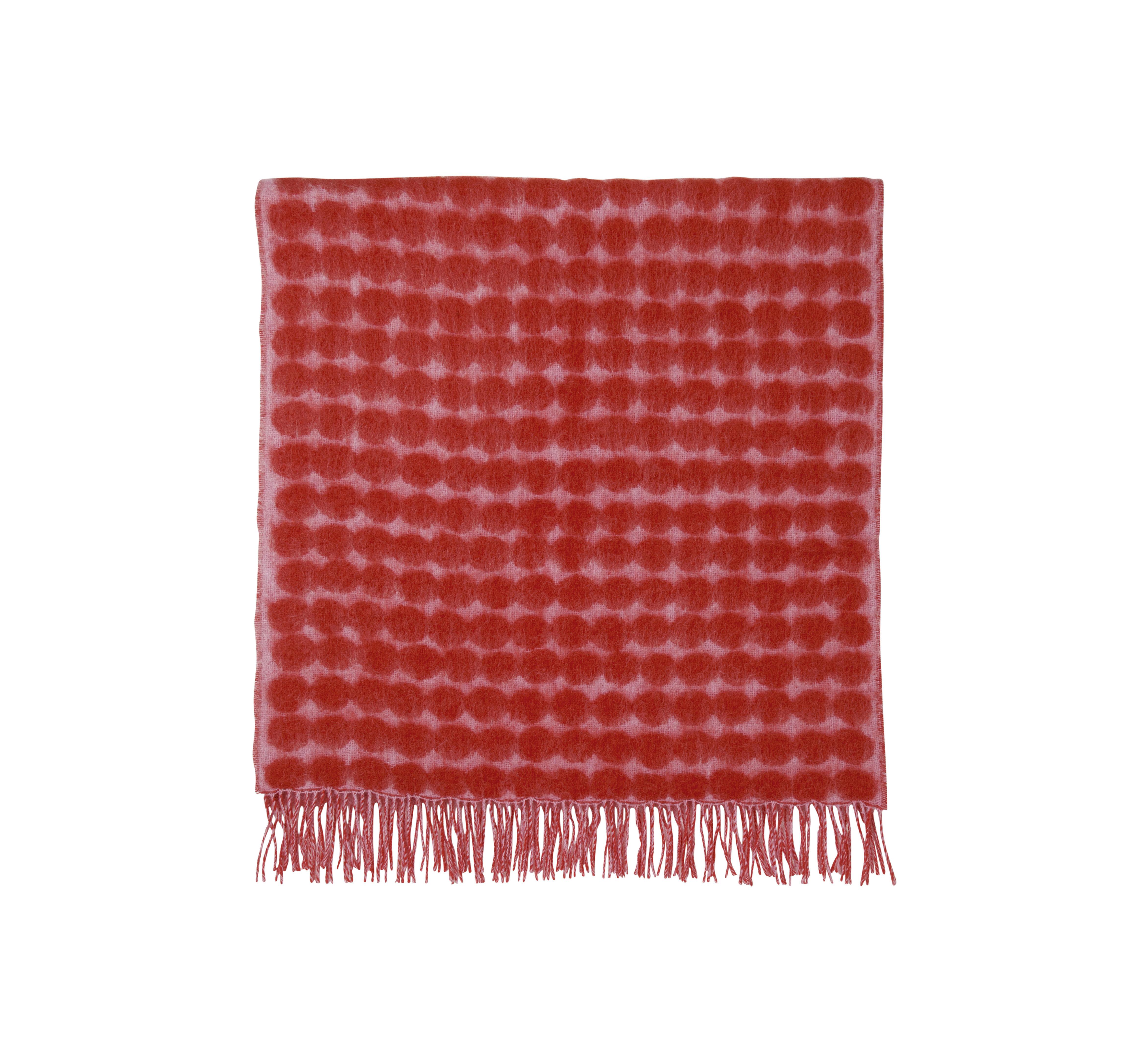 Déco - Textile - Plaid Räsymatto / 70 x 180 cm - Marimekko - Räsymatto / Rose & rouge - Laine, Mohair