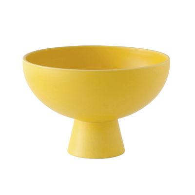 Tischkultur - Salatschüsseln und Schalen - Strøm Large Schale / Ø 22 cm - Céramique / Fait main - raawii - Jaune Freesia - Keramik