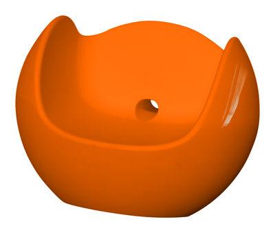 Möbel - Möbel für Teens - Blos Schaukelstuhl lackiert - Slide - Orange lackiert - lackiertes Polyäthylen