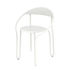 Huggy Bistro Chair Stackable armchair - / Aluminium by Maiori