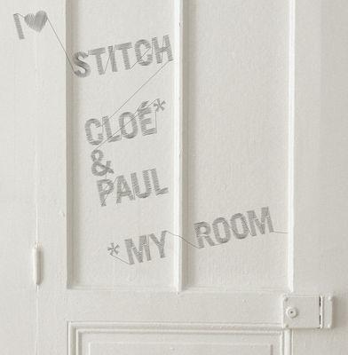Decoration - Wallpaper & Wall Stickers - Stitch Sticker by Domestic - Grey - Vinal
