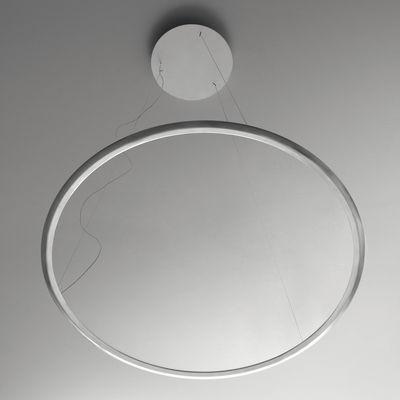 Luminaire - Suspensions - Suspension Discovery LED / Ø 70 cm - Artemide - Disque transparent / Cadre aluminium - Aluminium, PMMA