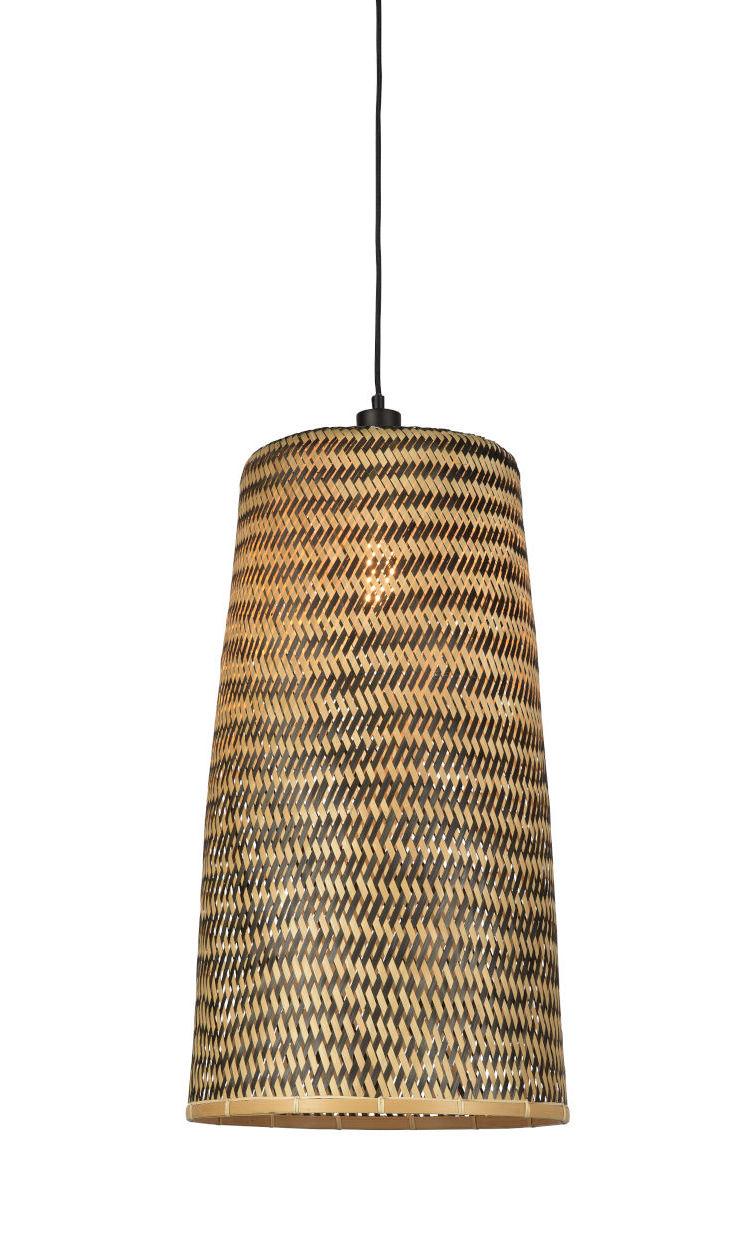 Luminaire - Suspensions - Suspension Kalimantan Large / Bambou - H 66 cm - GOOD&MOJO - Large / Noir & naturel - Bambou