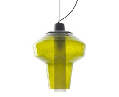 Luminaire - Suspensions - Suspension Metal glass 2 / Ø 31 x H 41 cm - Diesel with Foscarini - Vert - Métal verni, Verre soufflé