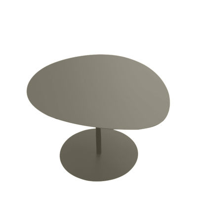 Mobilier - Tables basses - Table basse Galet n°3 / OUTDOOR - 57 x 64 cm - H 37,5 cm - Matière Grise - Taupe - Aluminium