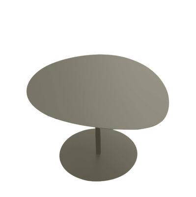 Table basse Galet n°3 / OUTDOOR - 57 x 64 cm - H 37,5 cm - Matière Grise taupe en métal