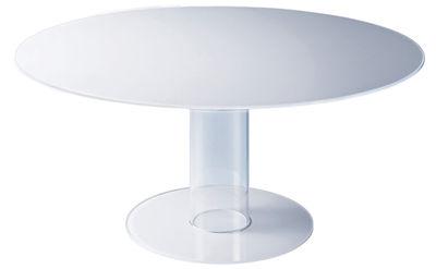 Table Hub / Ø 160 cm - Glas Italia blanc en verre