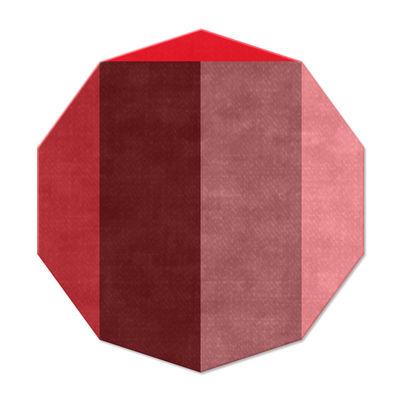 Déco - Tapis - Tapis Nova / 169 x 159 cm - Chevalier édition - Dégradés de rouge - Laine
