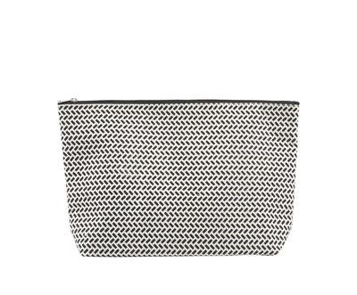 Trousse de toilette Paran / 32 x 20 cm - House Doctor blanc/noir en tissu