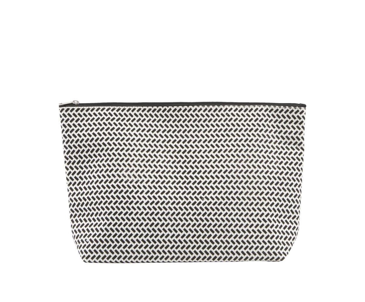 Accessoires - Sacs, trousses, porte-monnaie... - Trousse de toilette Paran / 32 x 20 cm - House Doctor - Large / Noir & Blanc - Coton enduit
