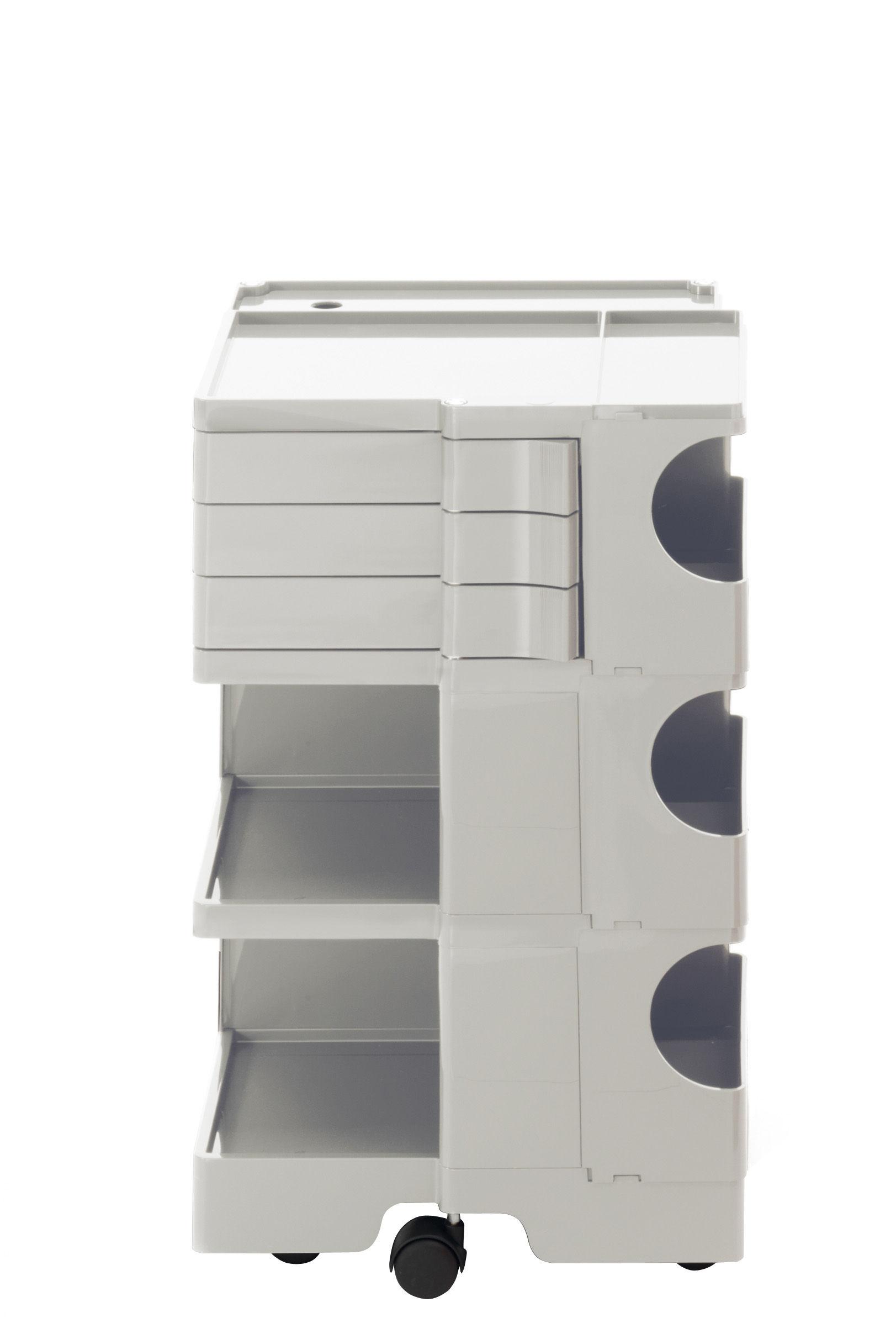 Möbel - Beistell-Möbel - Boby Ablage / H 73 cm - 3 Schubladen - B-LINE - Weiß - ABS