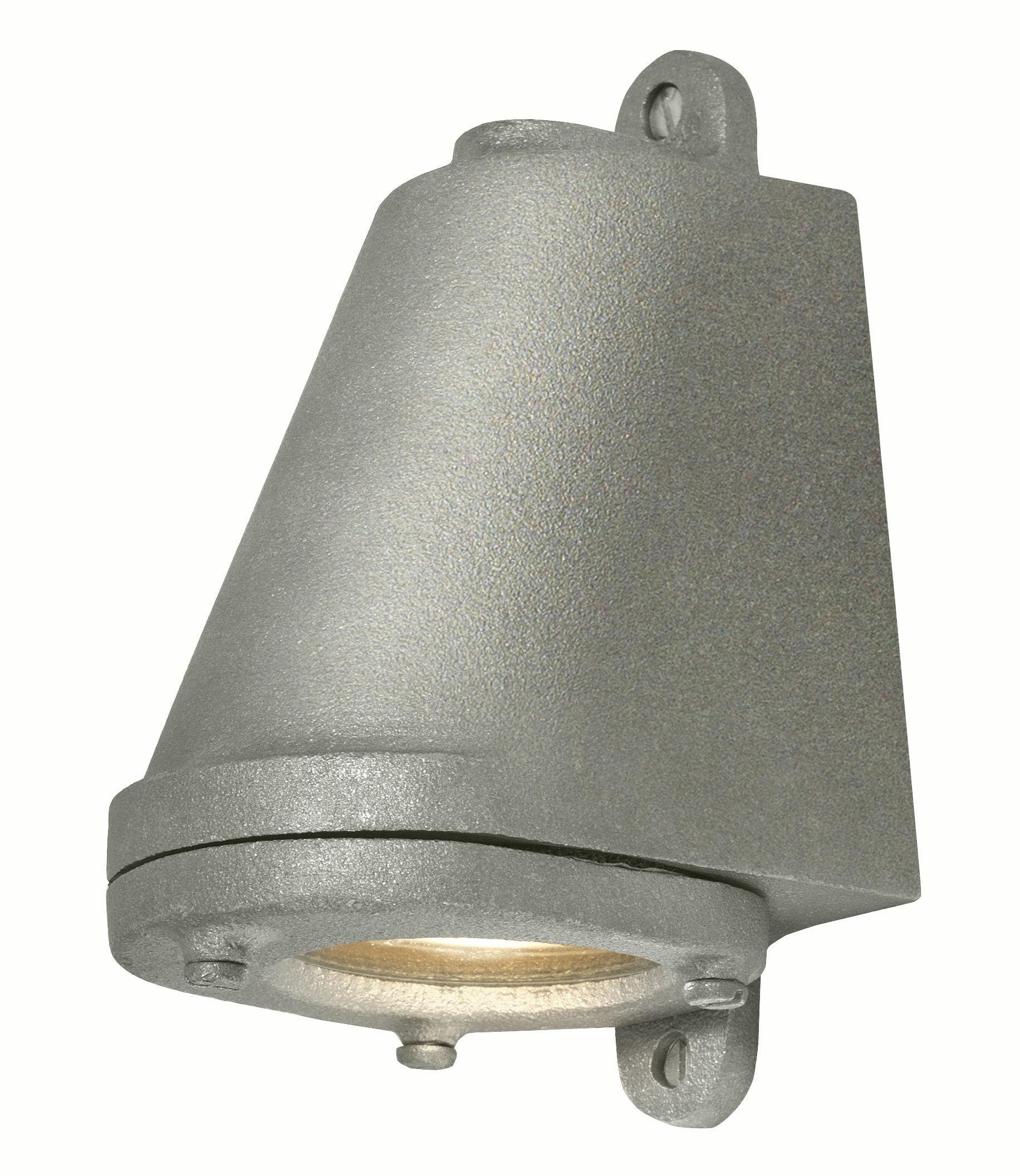 Illuminazione - Lampade da parete - Applique d'esterno Mast Light LED - / H 14 cm - Per l'esterno di Original BTC - Alluminio grezzo invecchiato - Alluminio anodizzato