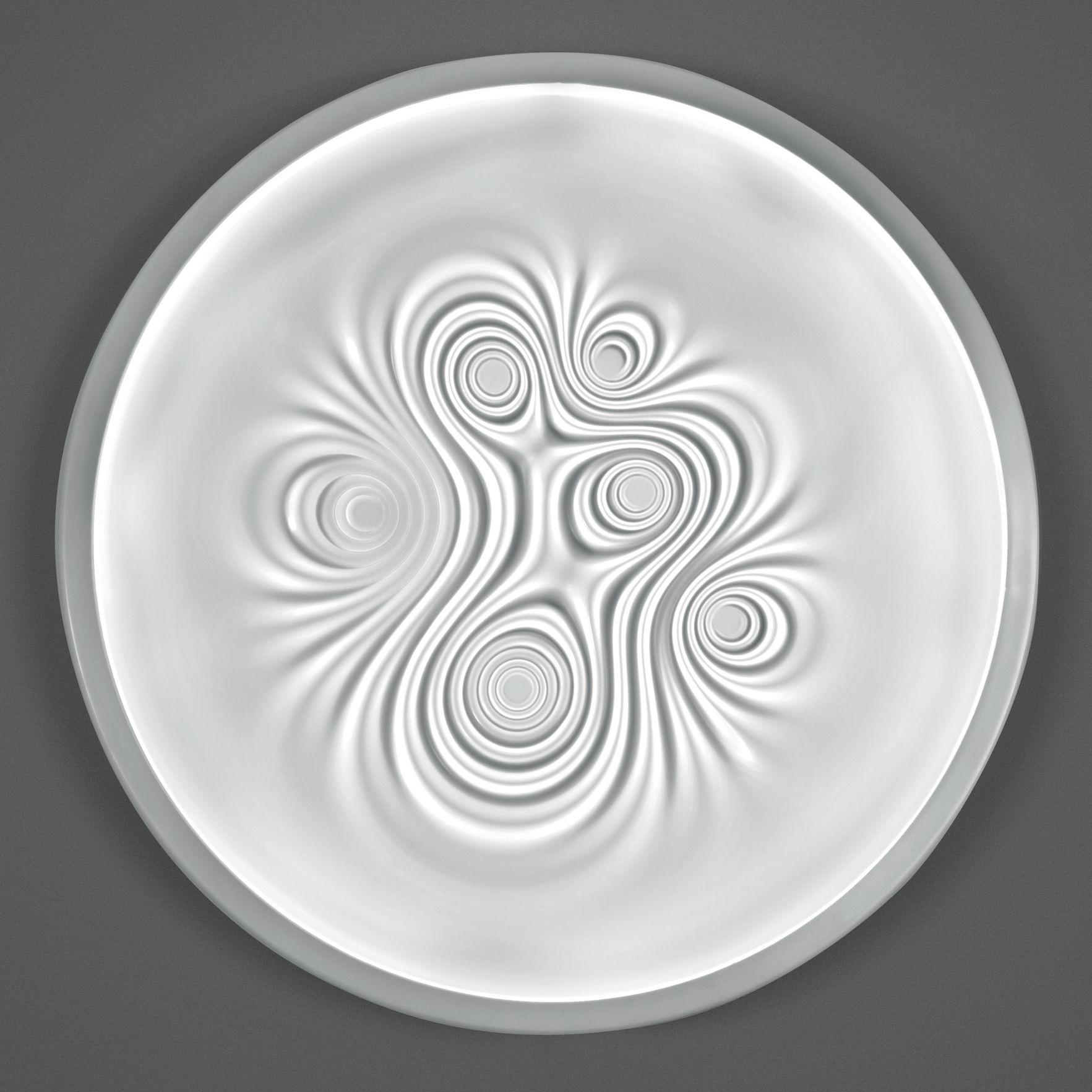 Illuminazione - Lampade da parete - Applique Nebula - LED / Plafoniera - Ø 80 cm di Artemide - Bianco - Alluminio, Méthacrylate opalin