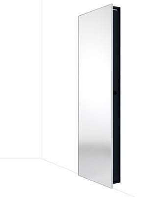 Mobilier - Miroirs - Armoire Backstage / Miroir - 64 x H 192 cm - Horm - L 64 x H 192 cm - Miroir / cadre noir - Acier peint, Aluminium, Miroir