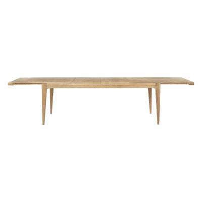 Möbel - Tische - S-table Ausziehtisch / Neuauflage 1951 - / 220 bis 320 cm - 6 bis 10 Personen - Gubi - Eiche - Eichenholzfurnier, massive Eiche