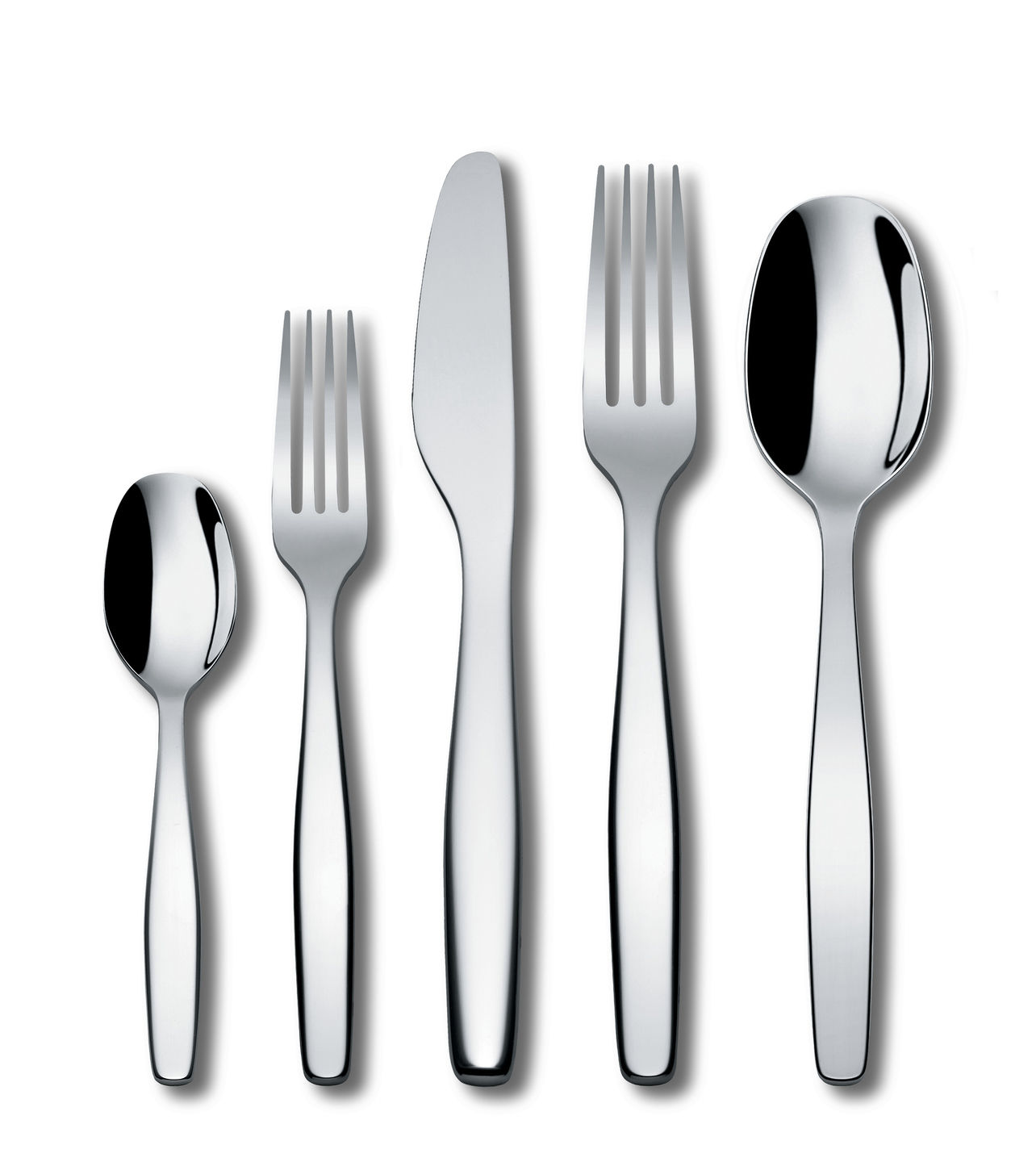 Tischkultur - Bestecke - Itsumo Besteck Set / 5 Teile - 1 Person - A di Alessi - Stahl - rostfreier Stahl