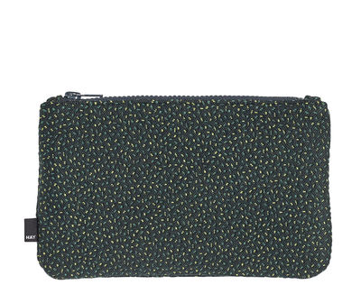 Accessories - Bags, Purses & Luggage - Zip Medium Case - L 22,5 x H 14 cm by Hay - Sprikles green - Kvadrat fabric