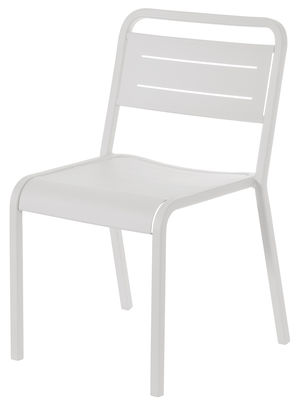 Mobilier - Chaises, fauteuils de salle à manger - Chaise empilable Urban / Métal - Emu - Blanc - Aluminium verni