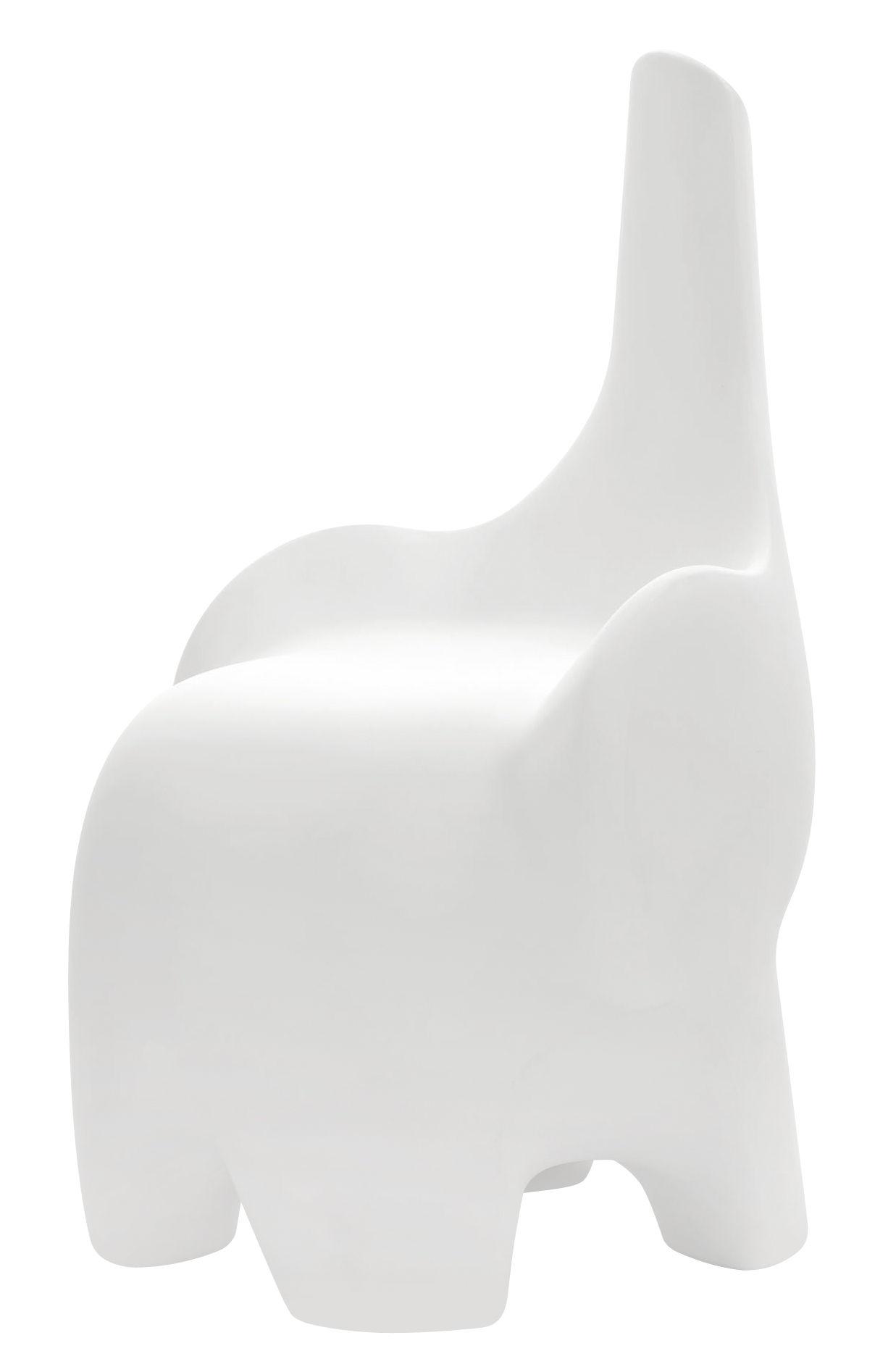 Mobilier - Chaises, fauteuils de salle à manger - Chaise enfant Tino / Décoration - Intérieur/extérieur - MyYour - Blanc - Plastique Poleasy ®