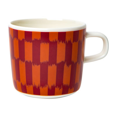 Tableware - Coffee Mugs & Tea Cups - Piekana Coffee cup by Marimekko - Piekana / Dark red, orange - Sandstone