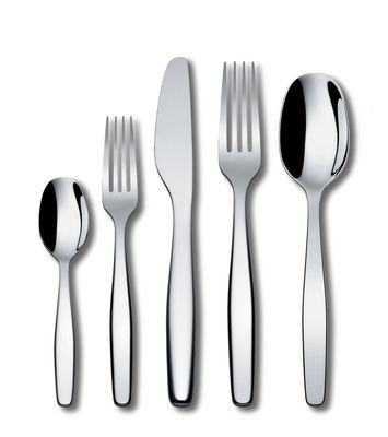 Tableware - Cutlery - Itsumo Cutlery set - / 5 items - 1 person by A di Alessi - Steel - Stainless steel