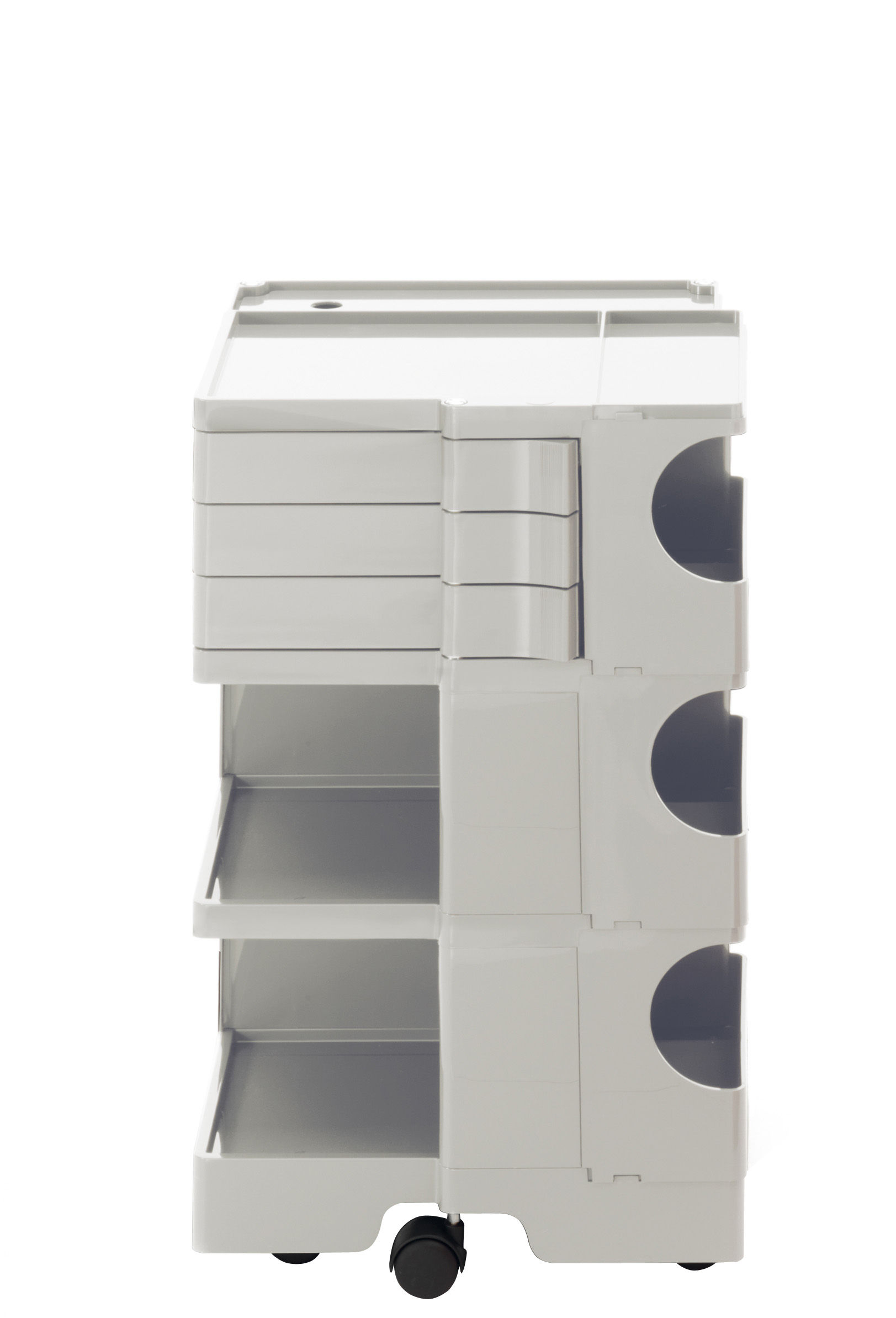 Mobilier - Compléments d'ameublement - Desserte Boby / H 73 cm - 3 tiroirs - B-LINE - Blanc - ABS