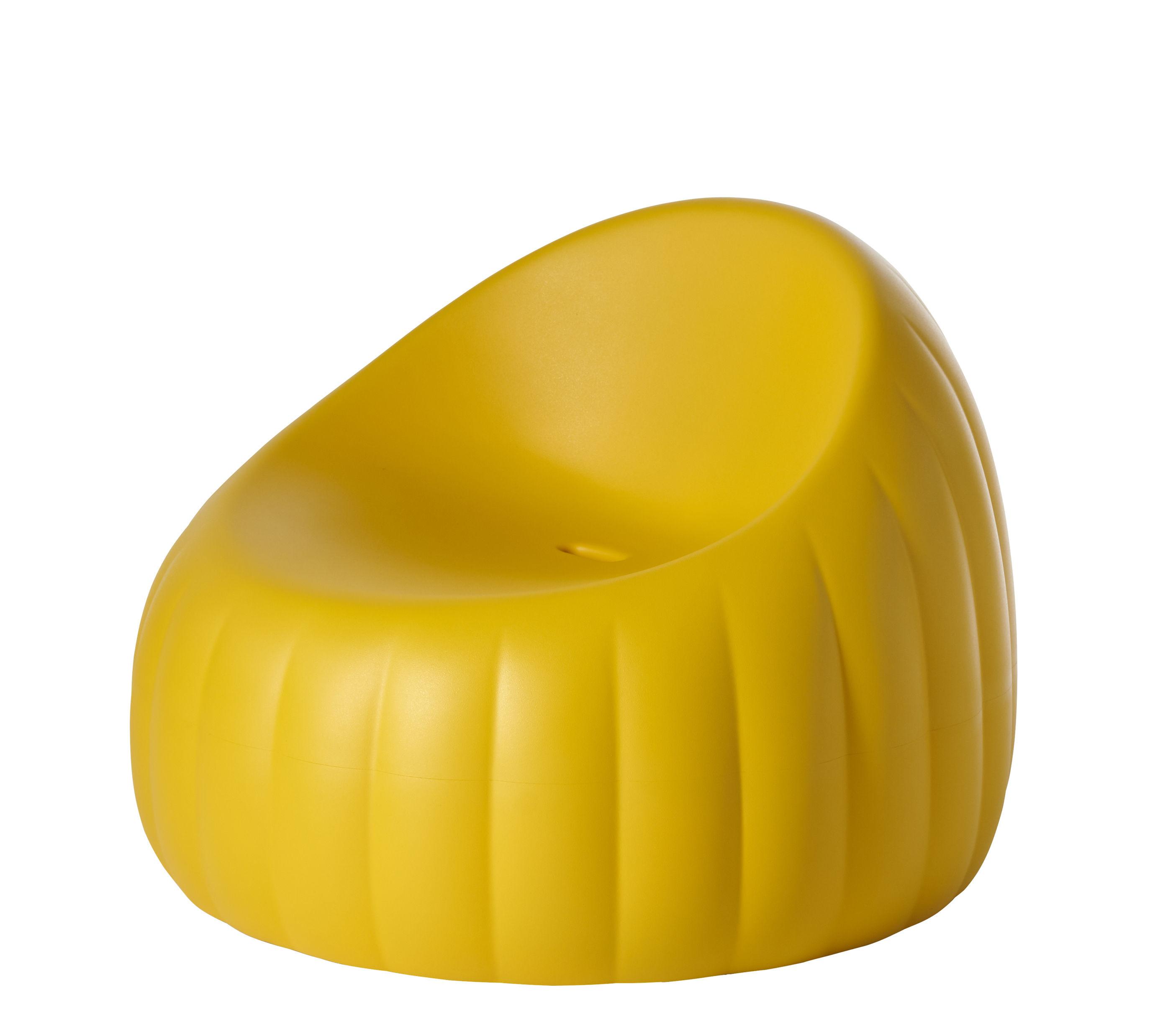 Mobilier - Fauteuils - Fauteuil bas Pouf Gelée Lounge / Mousse polyuréthane - Slide - Jaune - Mousse polyuréthane