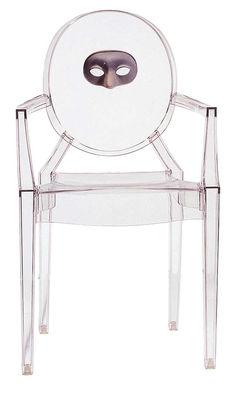 Fauteuil empilable Louis Ghost personnalisé / Polycarbonate - Kartell transparent en matière plastique