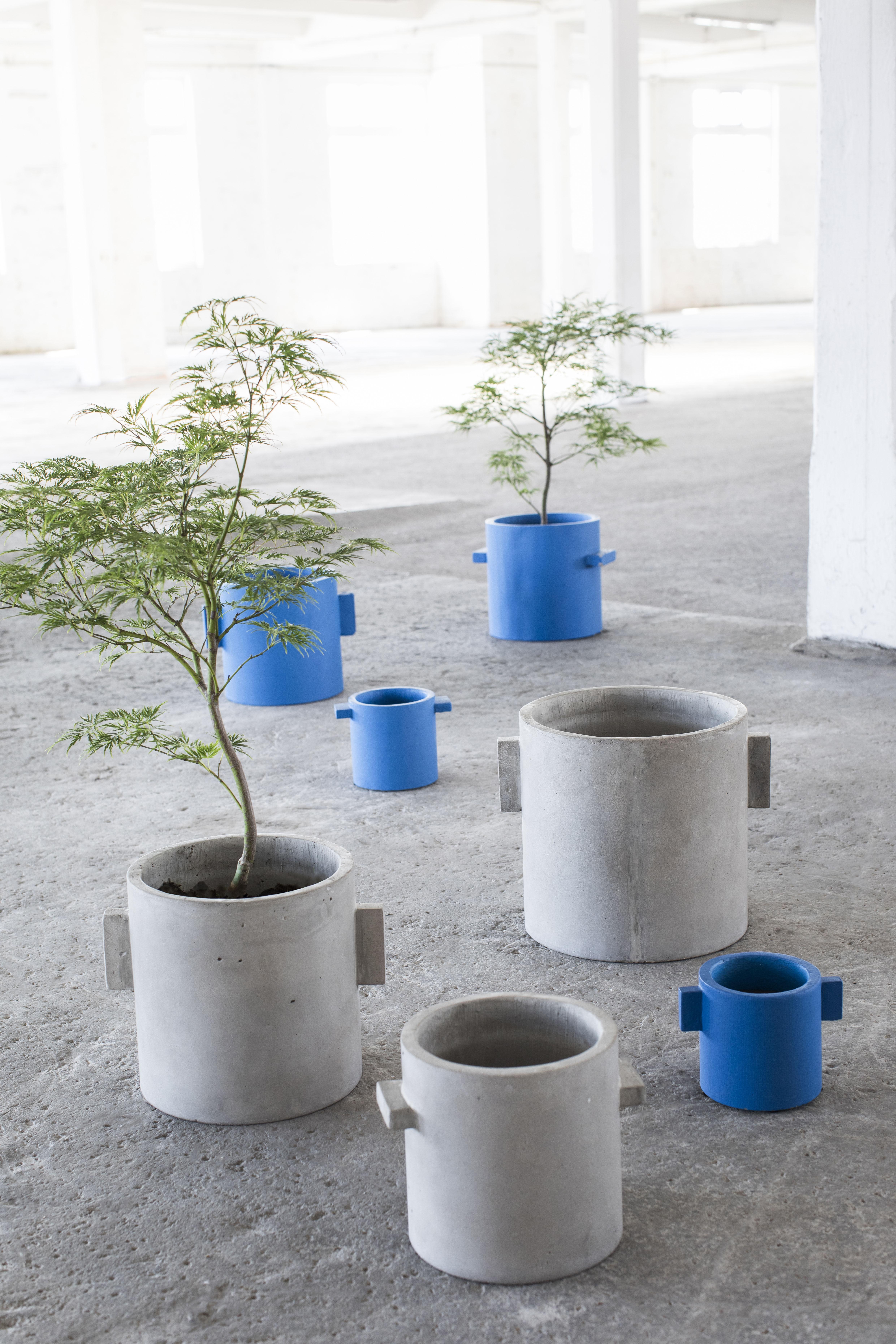 ... Decoration - Flower Pots & House Plants - Concrete Flower-pot holder - Round /