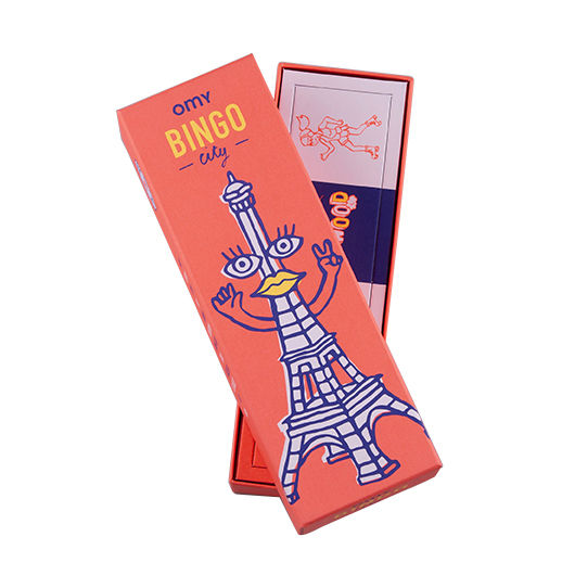 Decoration - Children's Home Accessories - Bingo Game box - / 48 cards + 8 bonus cards + 12 boards by OMY Design & Play - Bingo - Cardboard