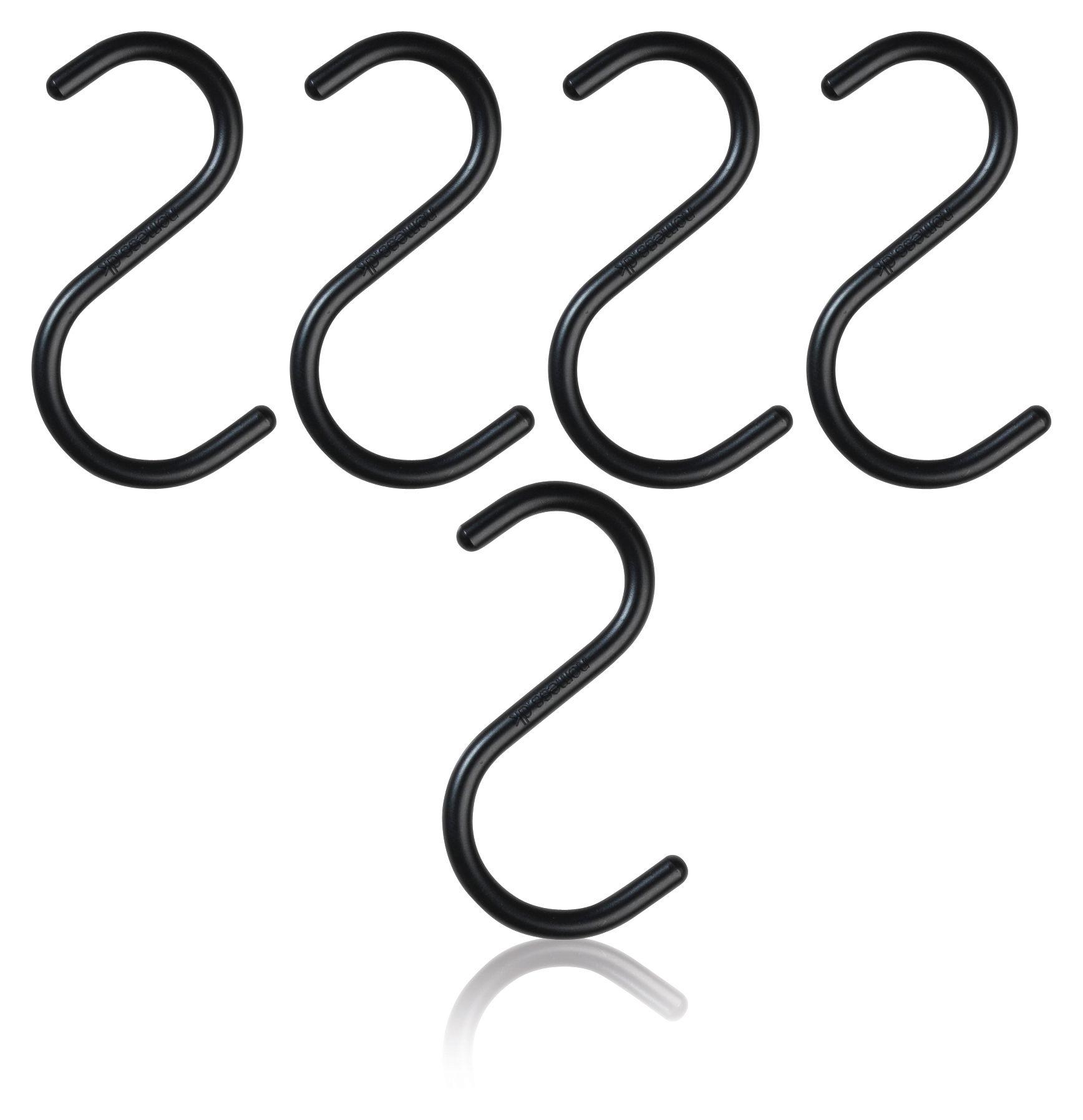 Interni - Rastrelliere e Ganci - Gancio S-HOOK Small - / Set da 5 di Nomess - Nero - alluminio verniciato