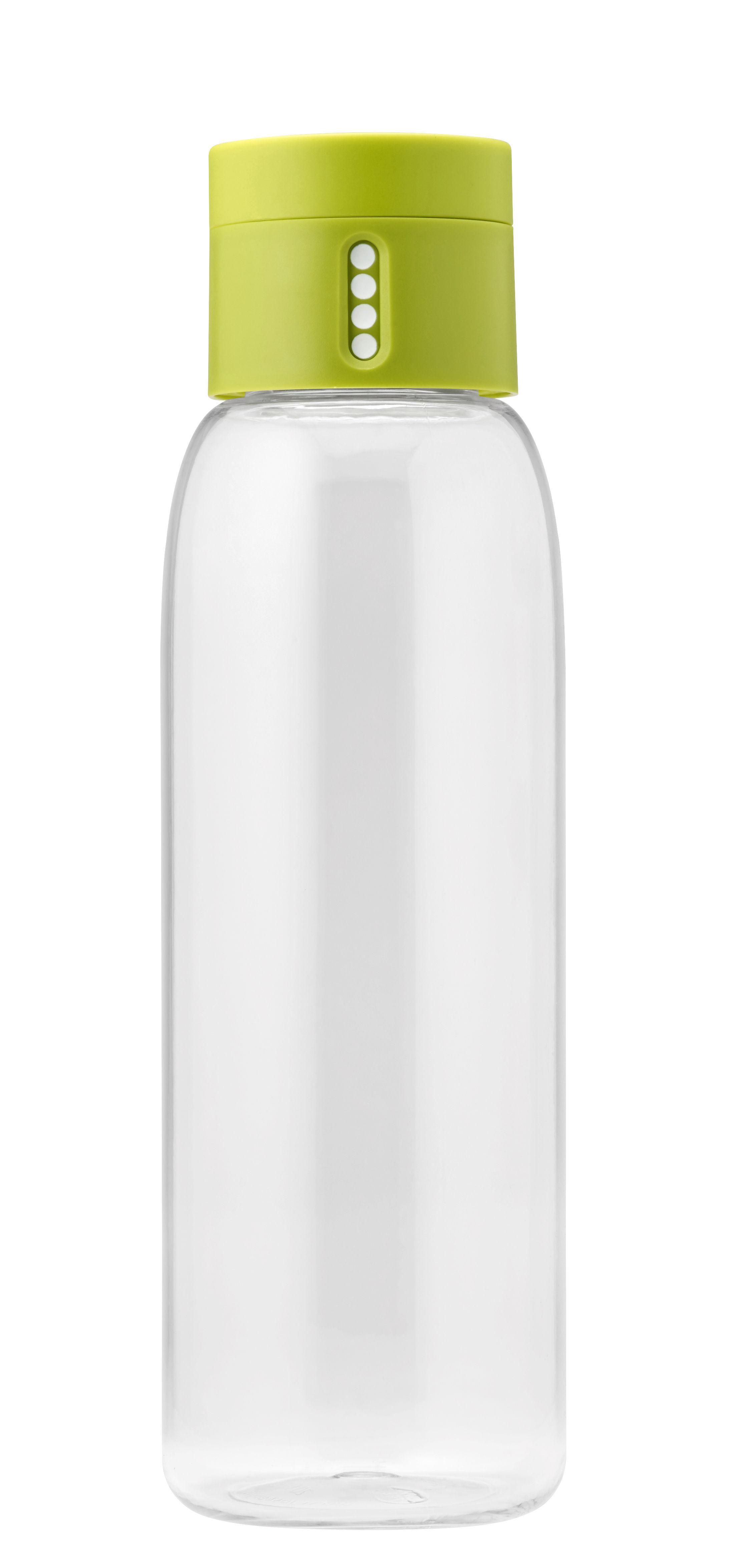 Arts de la table - Carafes et décanteurs - Gourde Dot / Bouchon intelligent - 600 ml - Joseph Joseph - Vert - Plastique écologique