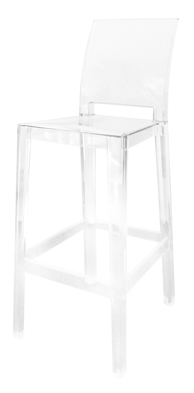 Möbel - Barhocker - One more please Hochstuhl Barhocker H 75 cm - Kartell - Kristall - Polykarbonat