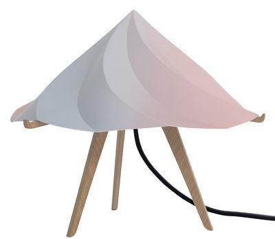 Illuminazione - Lampade da tavolo - Lampada da tavolo Chantilly Small - / H 28 cm di Moustache - Multicolore - Multistrato di rovere, Polipropilene riciclato