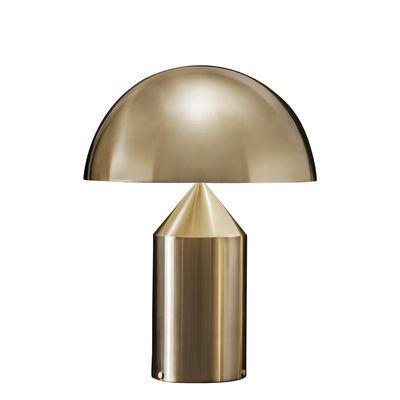 Lampe à poser Atollo Large Métal / H 70 cm / Vico Magistretti, 1977 - O luce or/métal en métal