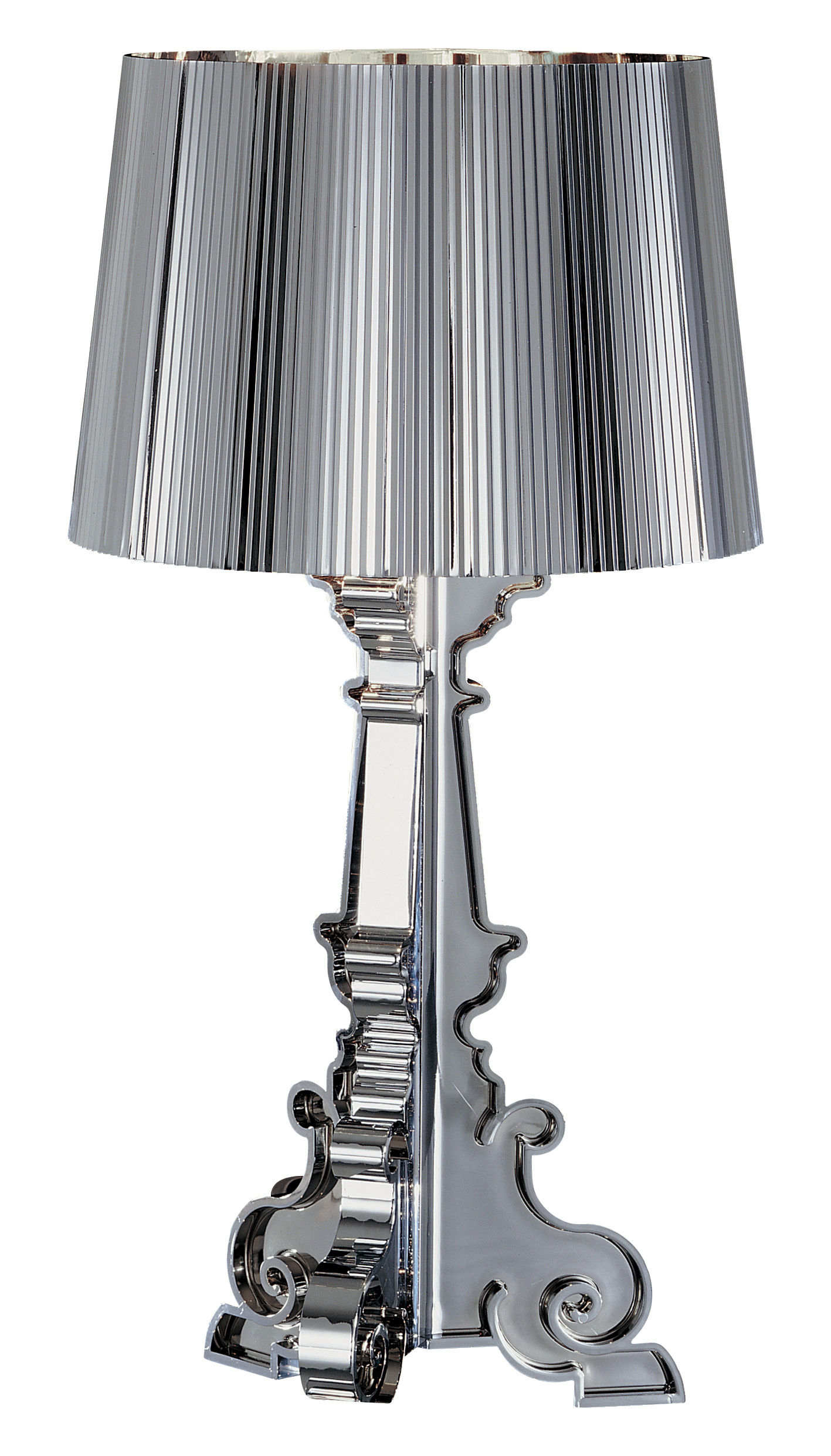 Lampe De Table Bourgie Chrome Kartell Chromée ø 37 Made In Design