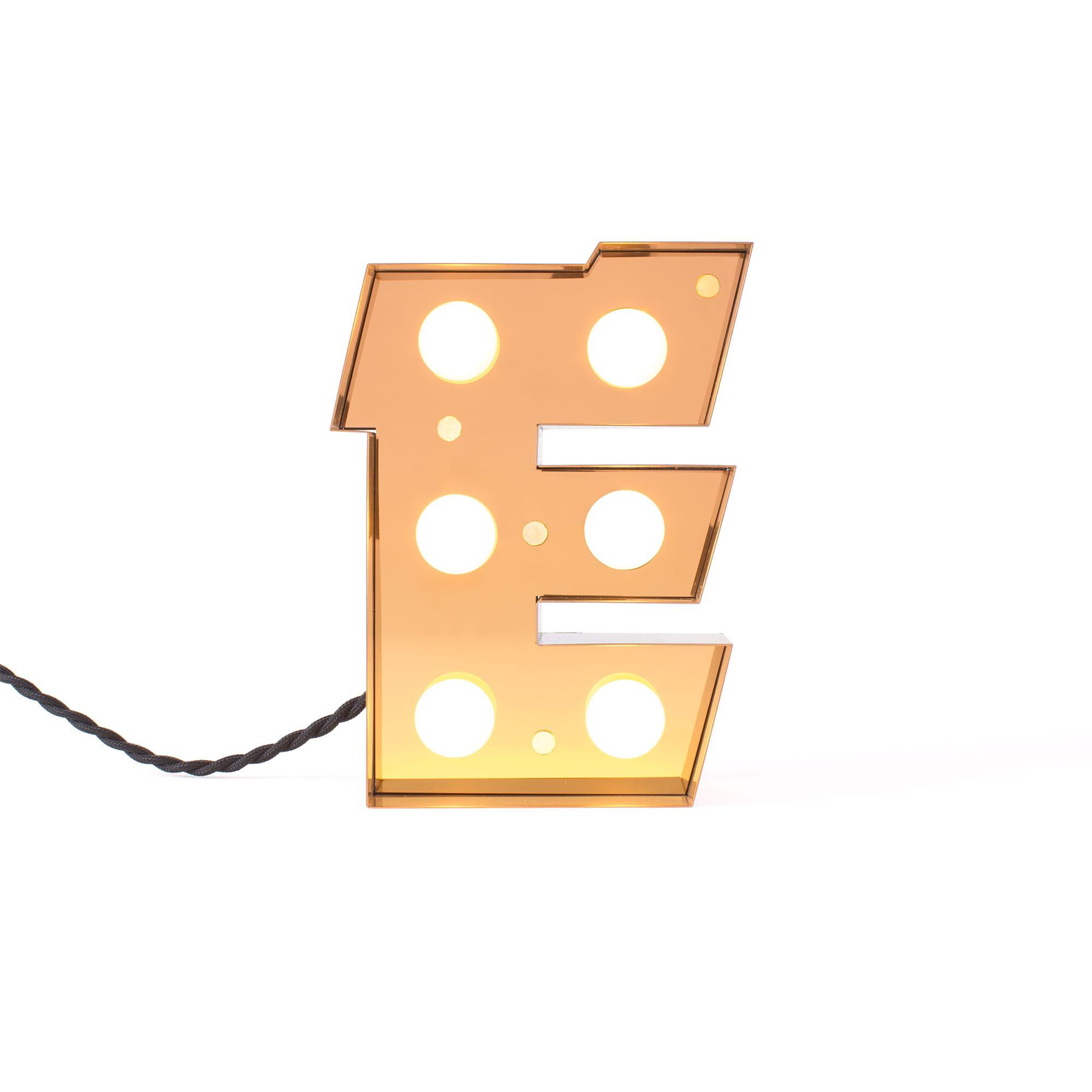 Déco - Pour les enfants - Lampe de table Caractère / Applique - Lettre E - H 20 cm - Seletti - E - Métal laqué