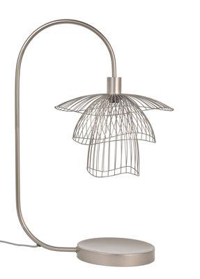 Lampe de table Papillon / H 62 cm - Forestier taupe métallique en métal