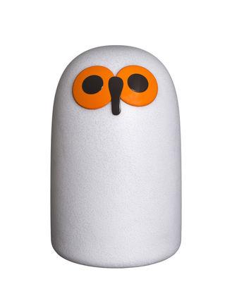 Dekoration - Für Kinder - Linnut Sulo LED Lampe ohne Kabel / Breit - Kunststoff - Magis - H 50 cm / Weiß & Orange - Plastique effet verre