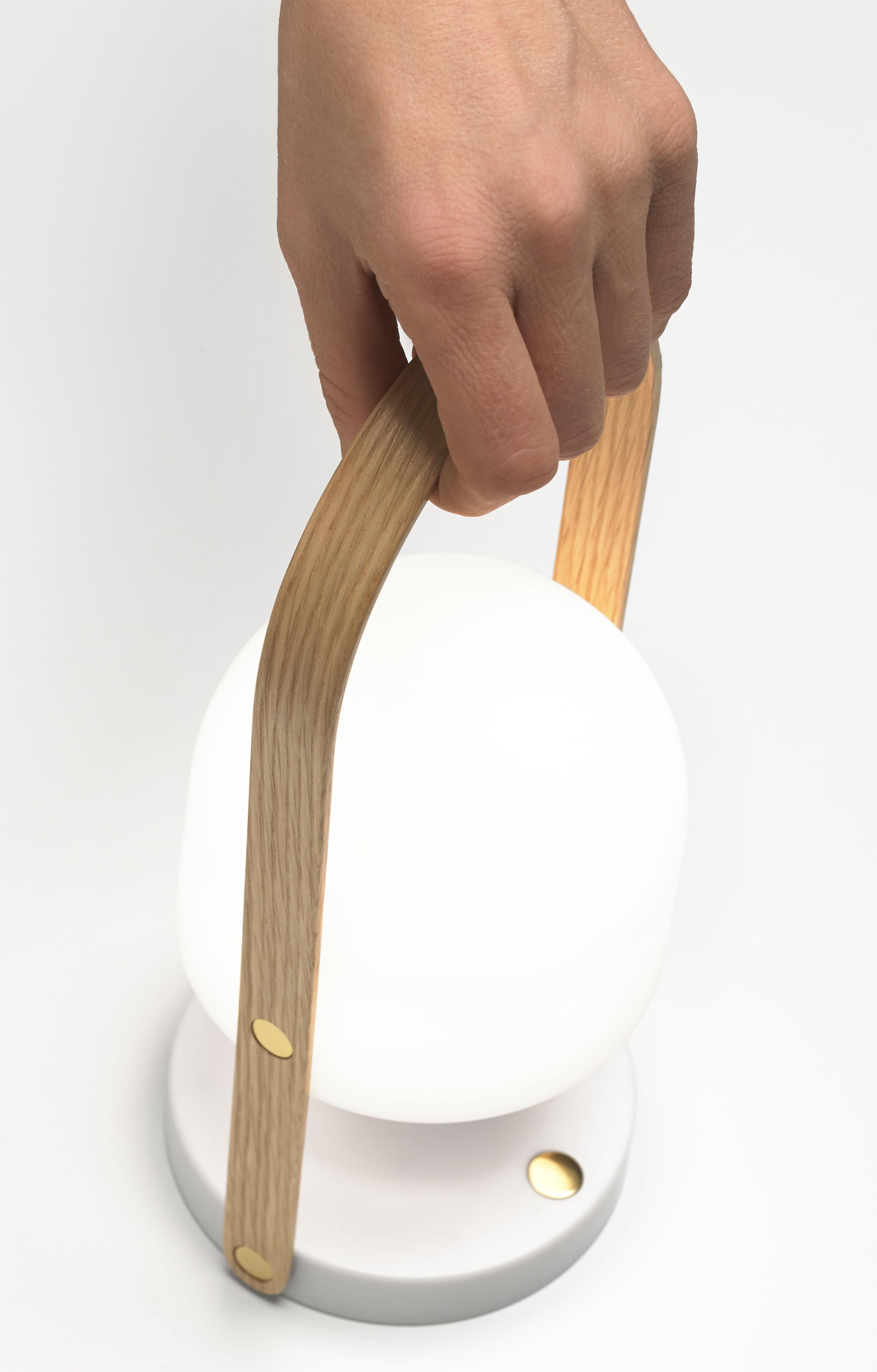 Lampe Sans Fil Followme Led H 29 Cm H 29 Cm Blanc Bois