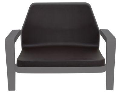 America Lounge Sessel - Slide - Grau,Schokolade