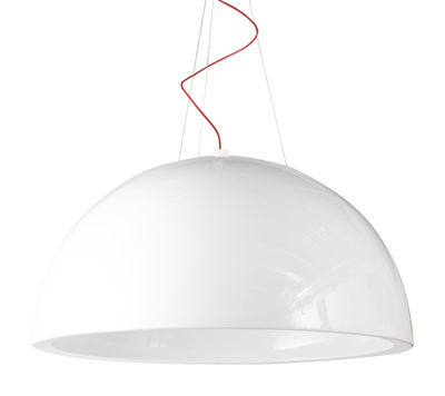 Lighting - Pendant Lighting - Cupole Pendant - Lacquered version - Ø 200 cm - LED by Slide - Lacquered white - recyclable polyethylene