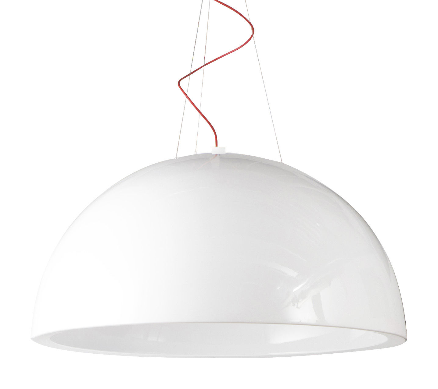Lighting - Pendant Lighting - Cupole Pendant - Lacquered version - Ø 200 cm - LED by Slide - Lacquered white - polyéthène recyclable