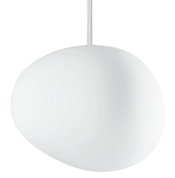 Leuchten - Pendelleuchten - Gregg Piccola Pendelleuchte Piccola - Foscarini - Weiß - Piccola (L 13 cm) - geblasenes Glas