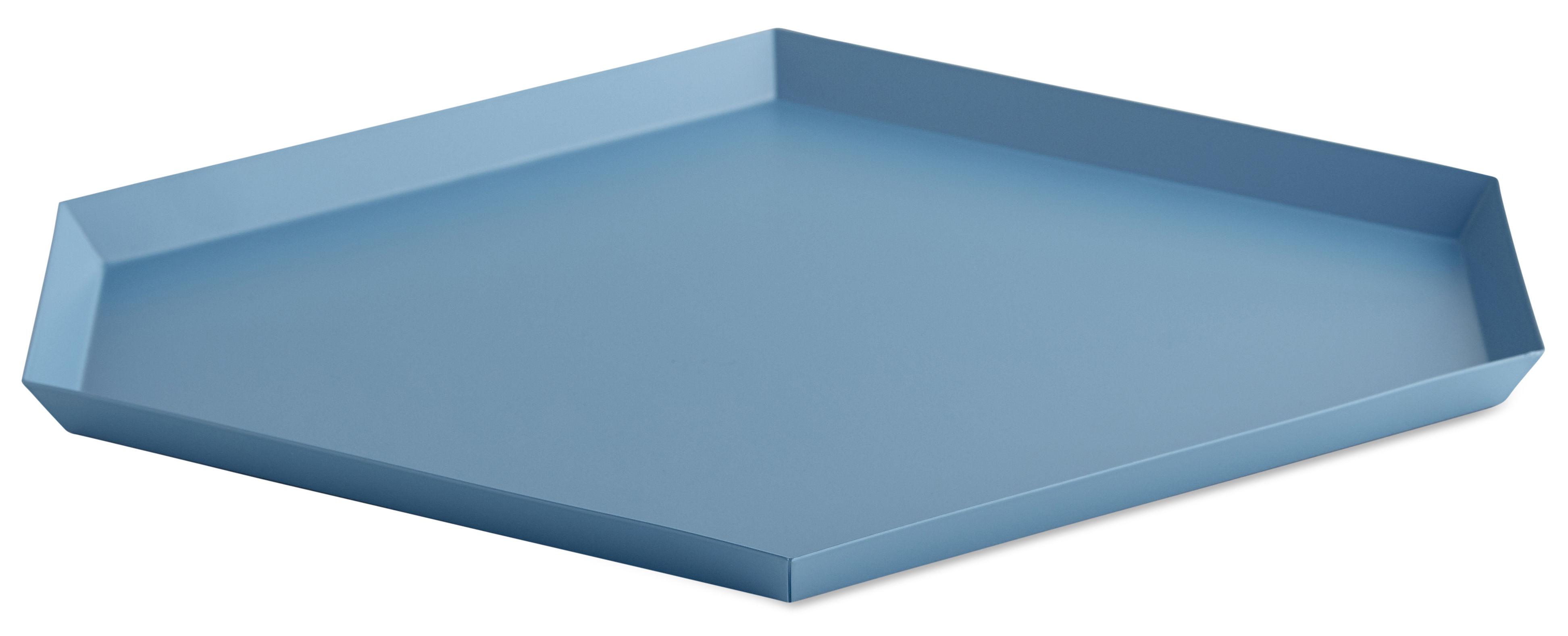 Tavola - Vassoi  - Piano/vassoio Kaleido Large - / 39 x 34 cm di Hay - Blu - Acciaio verniciato