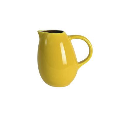 Arts de la table - Carafes et décanteurs - Pichet Tourron / 1 L - Grès fait main - Jars Céramistes - Citron - Grès émaillé
