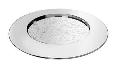 Tableware - Plates - Dressed Placemat - Ø 33 cm by Alessi - Mirror polished steel - Stainless steel
